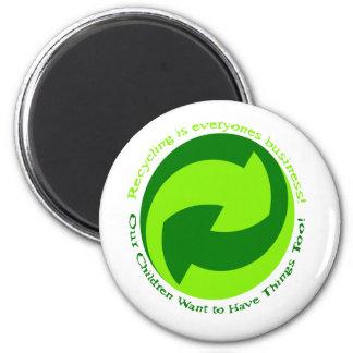 La ayuda recicla cada uno imán redondo 5 cm