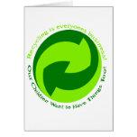 La ayuda recicla cada uno tarjetón