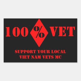 La ayuda Vietnam local del veterinario del 100% Rectangular Pegatina