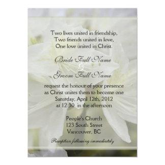 La azalea blanca bonita florece el boda cristiano invitación 13,9 x 19,0 cm