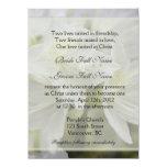 """La azalea blanca bonita florece el boda cristiano invitación 5.5"""" x 7.5"""""""