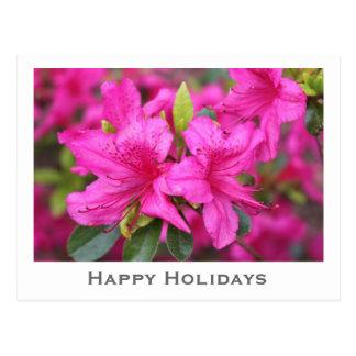 la azalea rosada florece el navidad regalo de postales