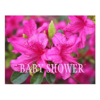 La azalea rosada florece invitaciones del fiesta postal
