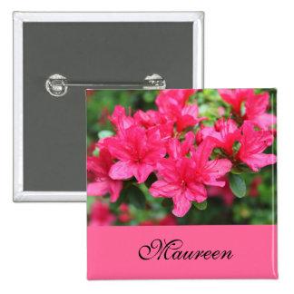 la azalea rosada hermosa florece el botón conocido