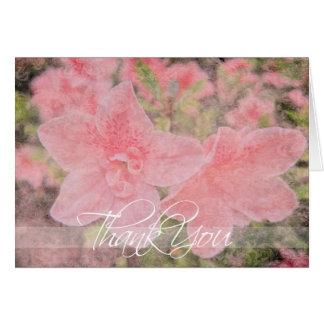La azalea texturizada le agradece cardar tarjeta de felicitación