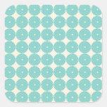 La azul turquesa bonita de la aguamarina del pegatinas cuadradases