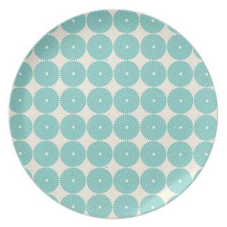 La azul turquesa bonita de la aguamarina del trull plato