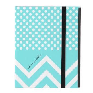La azul turquesa bonita modela el caso de encargo  iPad protectores