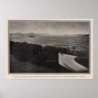 La bahía cerca del muelle de los pescadores, San F Poster