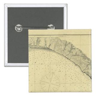 La bahía de Drake, California Pin Cuadrado