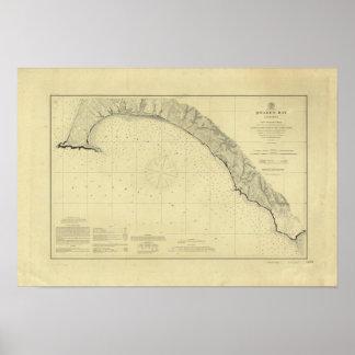 La bahía de Drake, California Póster