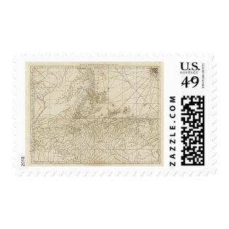 La bahía de Honduras Timbres Postales