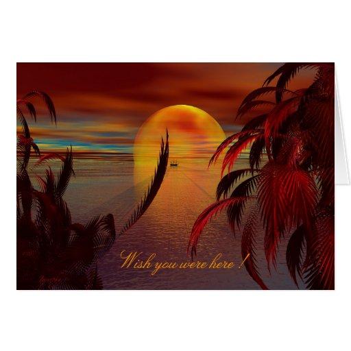 ¡La bahía de la soledad, desea que usted estuviera Felicitacion