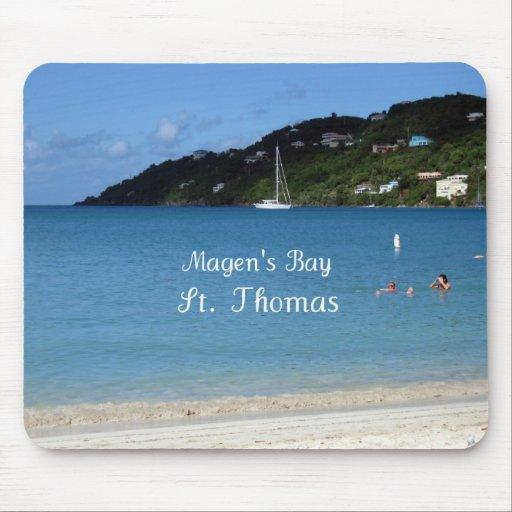 La bahía de Magen, St Thomas Alfombrilla De Raton
