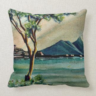 La bahía de Nápoles Italia Cojín Decorativo