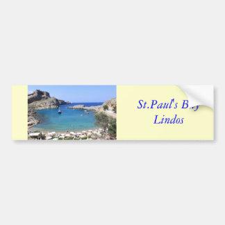La bahía de San Pablo, Lindos Etiqueta De Parachoque