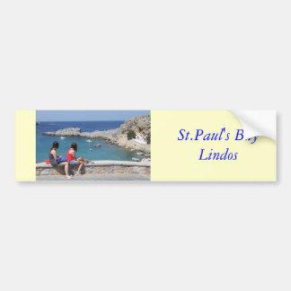 La bahía de San Pablo, Lindos Pegatina De Parachoque