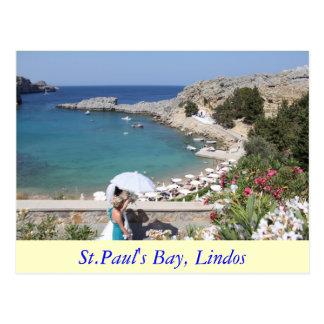 La bahía de San Pablo, Lindos Postal
