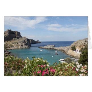 La bahía de San Pablo, Lindos Tarjeta