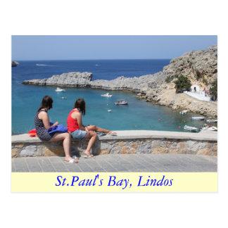La bahía de San Pablo, Lindos Tarjeta Postal