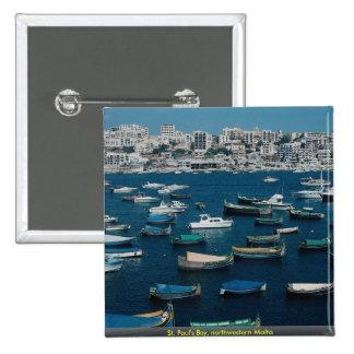 La bahía de San Pablo, Malta del noroeste Pins