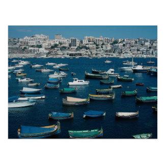La bahía de San Pablo, Malta del noroeste Tarjeta Postal