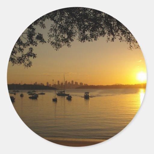La bahía de Watson Etiqueta Redonda