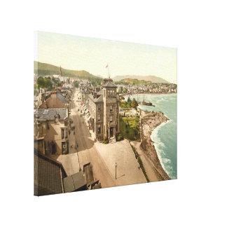 La bahía del este Dunoon lona de Escocia imprime Impresión En Lienzo Estirada