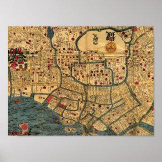 La bahía del japonés de Tokio traza el poster, per