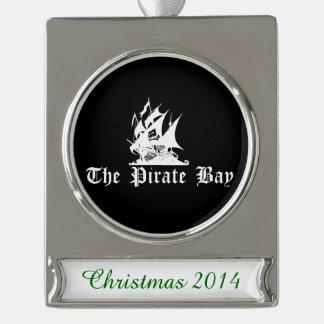 La bahía del pirata adornos navideños plateados