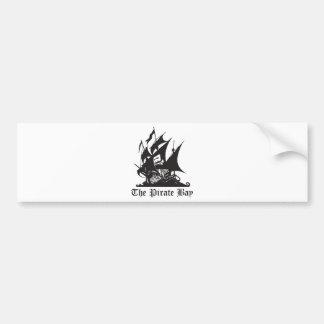 La bahía del pirata etiqueta de parachoque