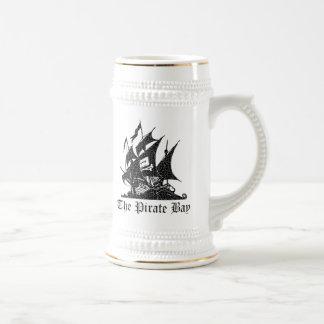 La bahía del pirata jarra de cerveza