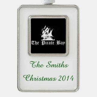 La bahía del pirata marcos de adorno plateado