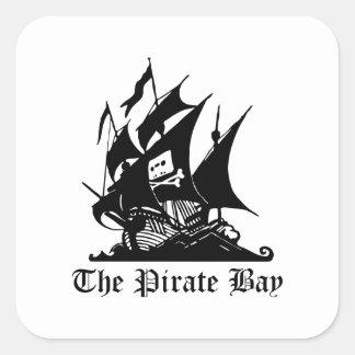 La bahía del pirata pegatinas cuadradas