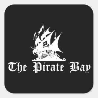 La bahía del pirata pegatina cuadrada