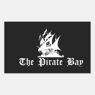 La bahía del pirata rectangular pegatina