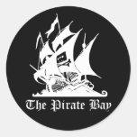 La bahía del pirata pegatinas redondas