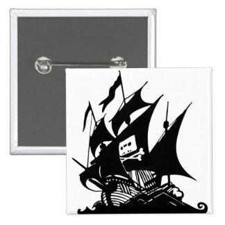 La bahía del pirata pin cuadrada 5 cm