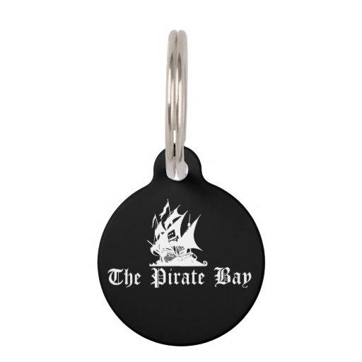 La bahía del pirata placa para mascotas