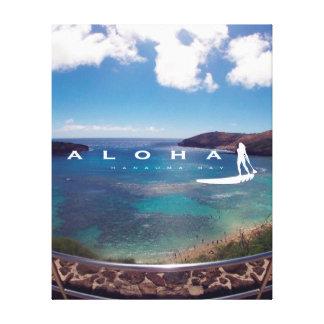 La bahía Hawaii de Hanauma de la hawaiana se Impresión En Lienzo