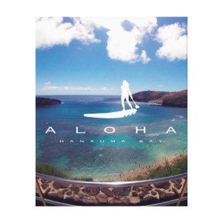 La bahía Hawaii de Hanauma de la hawaiana se Lona Envuelta Para Galerias