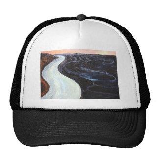La bahía negra pintura de paisaje abstracta gorras de camionero