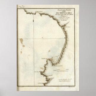 La bahía y la península de Monterey Póster