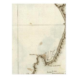 La bahía y la península de Monterey Tarjeta Postal