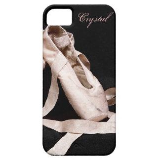 La bailarina calza la caja de Iphone cinco Funda Para iPhone 5 Barely There