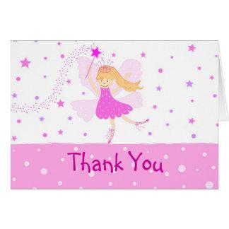 La bailarina rosada le agradece cardar tarjeta de felicitación