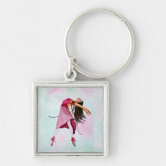 La bailarina rosada llaveros personalizados