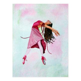 La bailarina rosada tarjetas postales