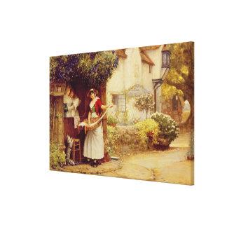 La balada Seller, 1902 (aceite a bordo) Lona Estirada Galerías