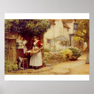 La balada Seller, 1902 (aceite a bordo) Póster